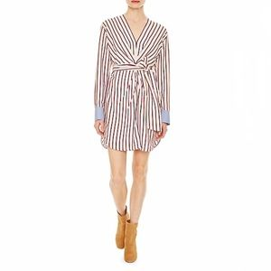 Sandro Paige Striped Belted Mini Dress
